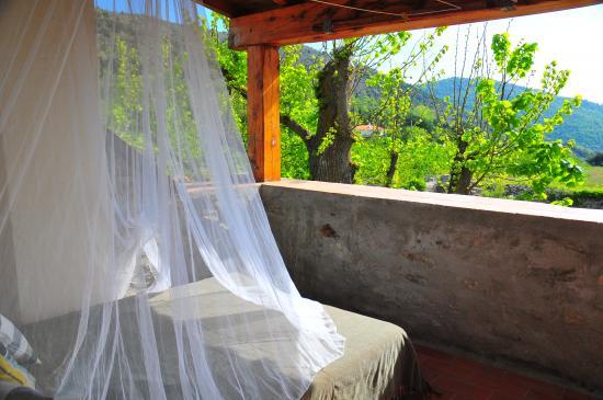 terrasse chambre verte
