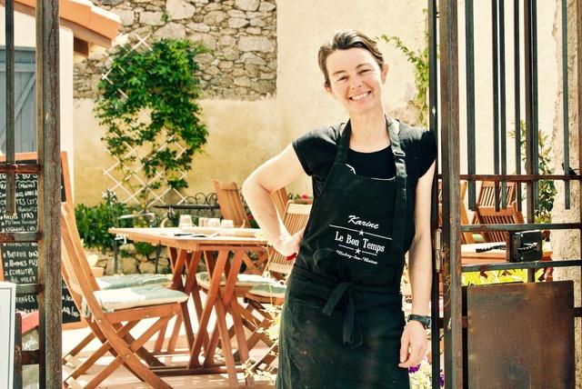 Karine chef de cuisine le bon temps